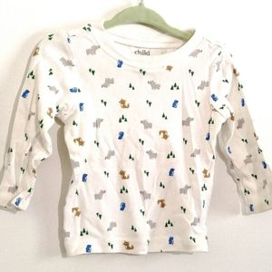 6-9M Tee | Forest Animals Woodland Trees